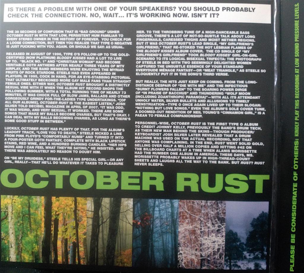 Interior de la edición limitada en vinilo de 2013